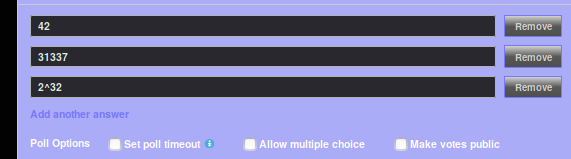[IMAGE: example image of poll options under topic-text when selected]